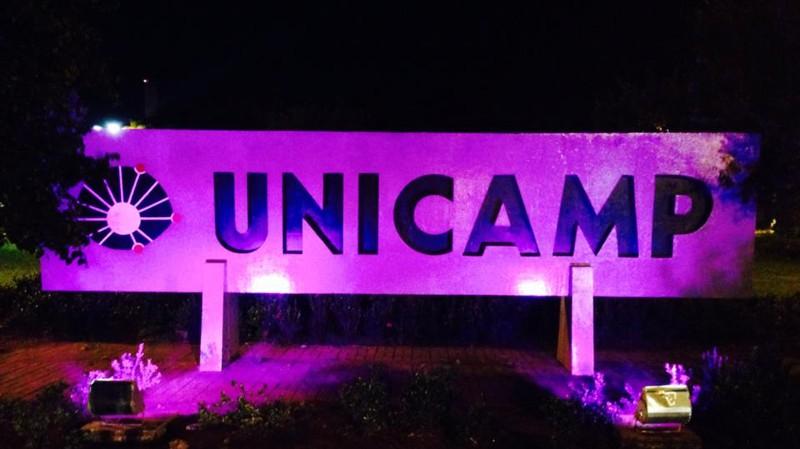 unicamp iluminada pelo Purple Day