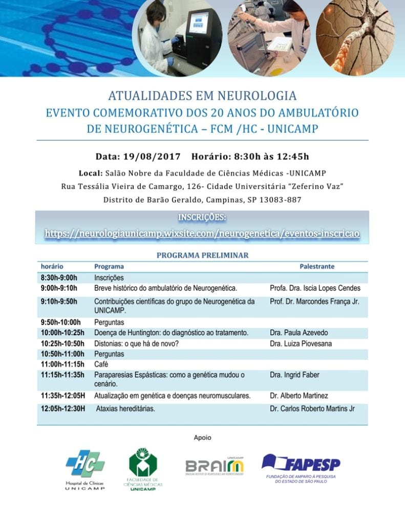 programacao 20 anos do laboratorio de neurogenetica