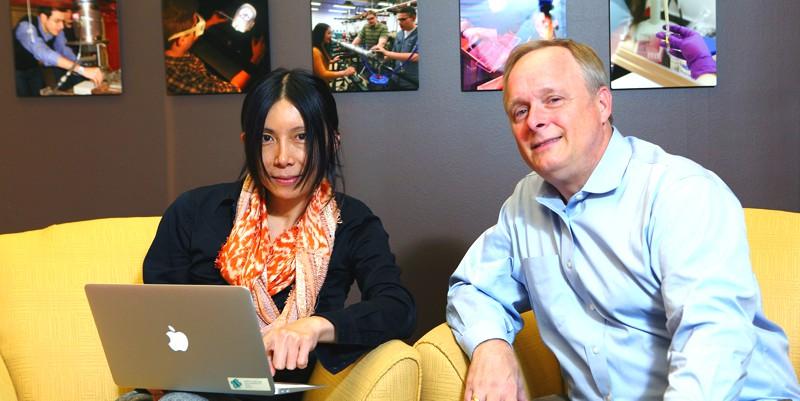 os pesquisadores Peter Nelson e Alex Leow