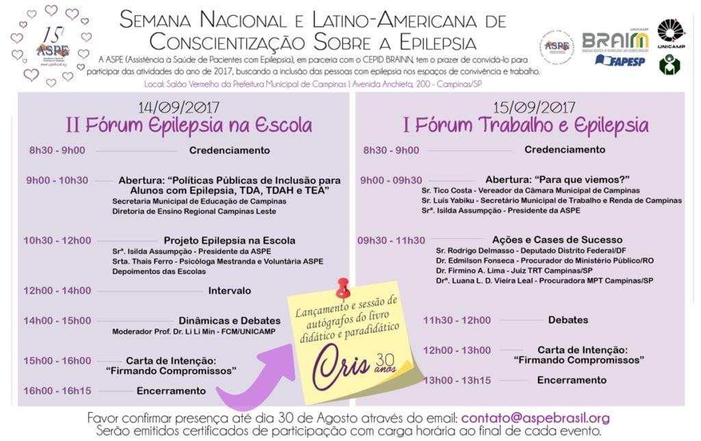 ASPE - Semana Nacional e Latino-Americana de Conscientização Sobre a Epilepsia 2017
