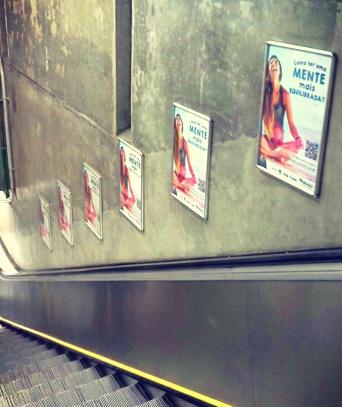 cartazes da campanha semear ciencia BRAINN metro de sao paulo