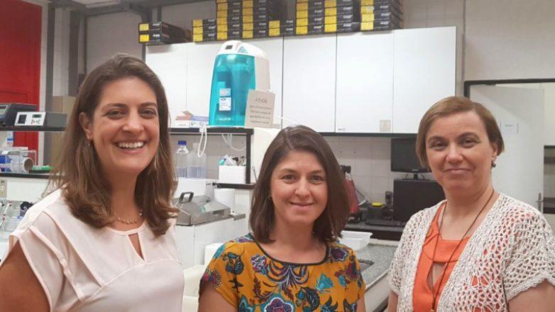 Dra. Marina Alvim, dra. Joana Prota e dra. Iscia Lopes-Cendes
