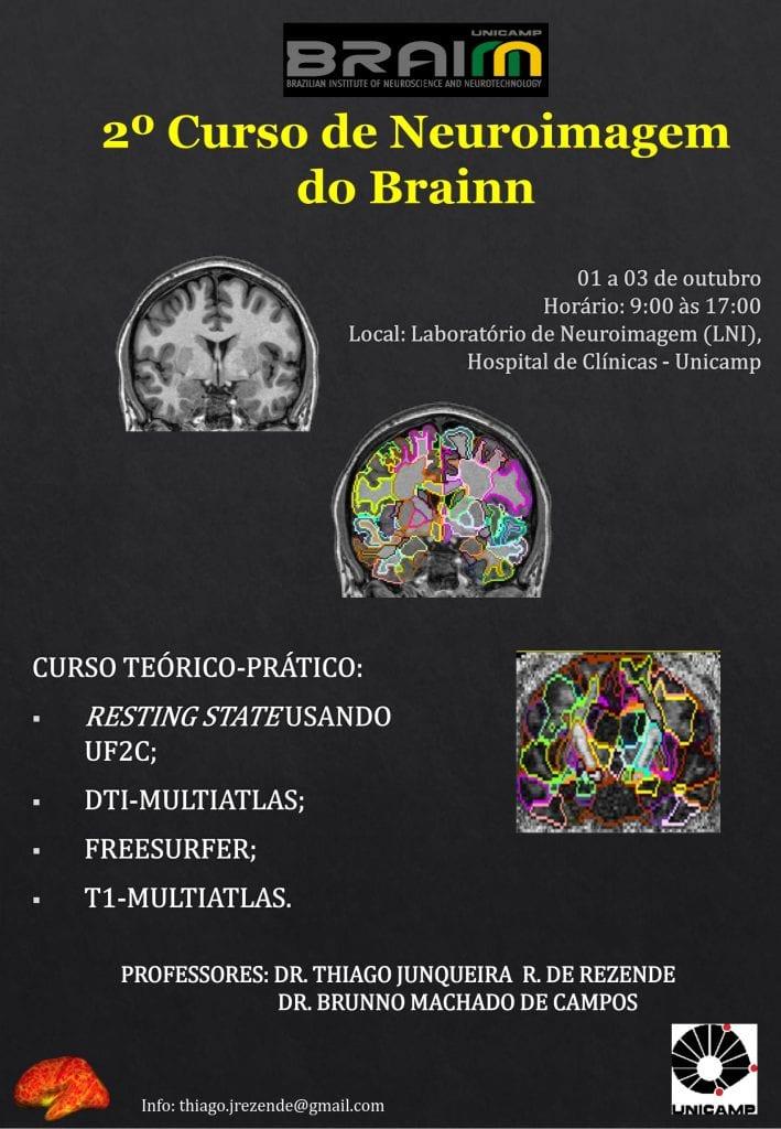 CEPID BRAINN - folheto do 2º Curso de Neuroimagem