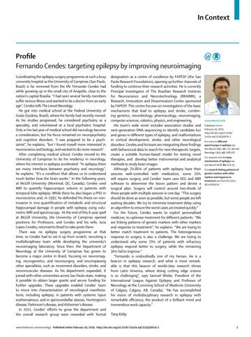 Fernando Cendes no The Lancet Neurology - artigo