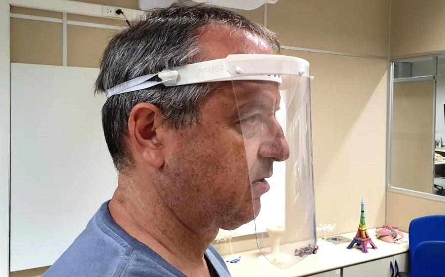 CTI Renato Archer e BRAINN - covid-19 - mascaras impressora 3D