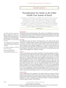 CEPID BRAINN - pesquisa trombectomia AVC do DR LI LI MIN - artigo no TNEJOM