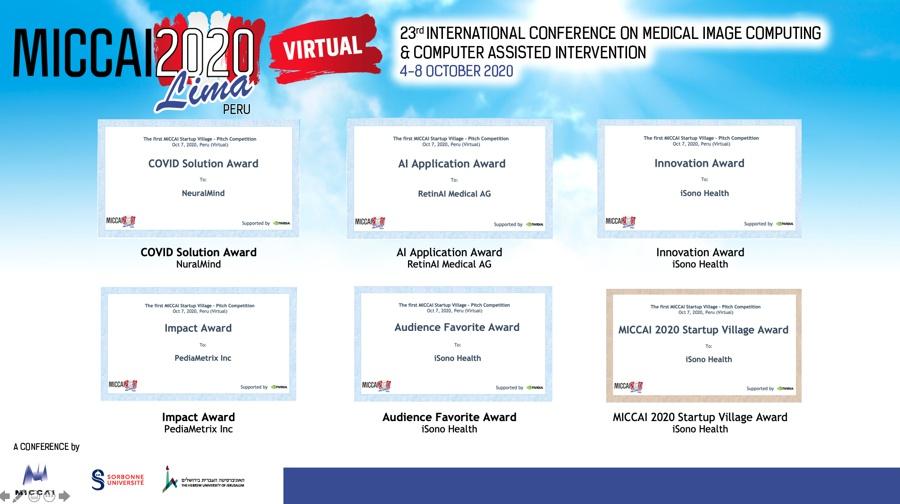 CEPID BRAINN - MICLab e NeuralMind vencedores MICCAI 2020 - premiacao