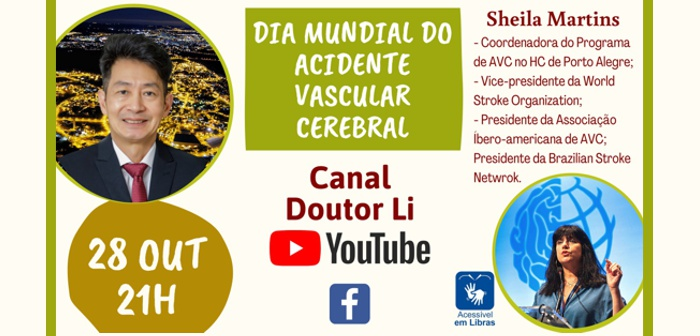 CEPID BRAINN - divulgacao - live Dia Mundial do AVC - Li Li Min e Sheila Martins - capa