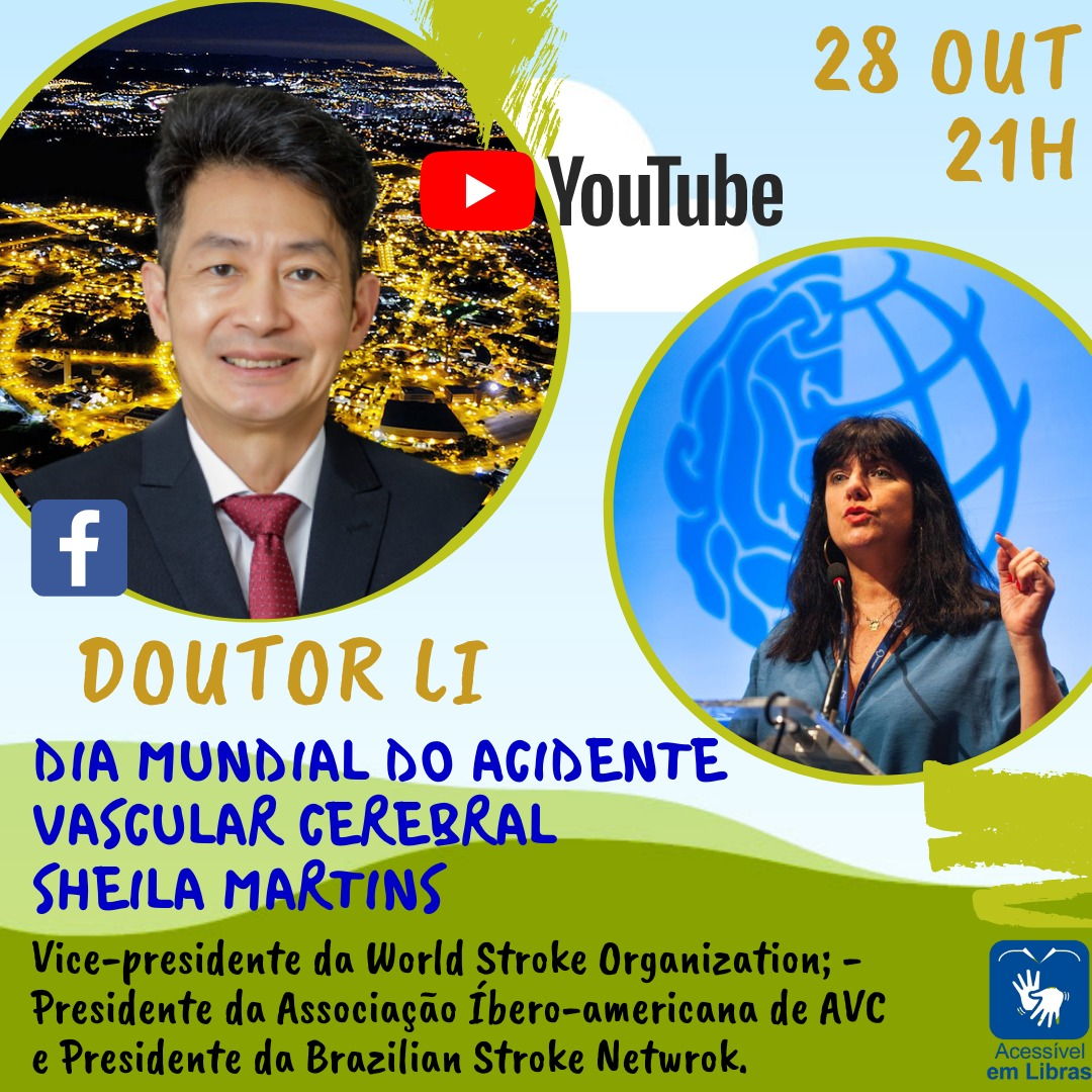 CEPID BRAINN - divulgacao - live Dia Mundial do AVC - Li Li Min e Sheila Martins