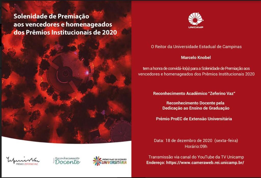 CEPID BRAINN - Premiacao Institucional Unicamp 2020
