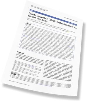 CEPID BRAINN - artigo variacoes geneticas COVID-19 - Arte Paper